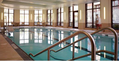 The indoor swimming pool at Fox Hill is a great place to exercise during colder months.