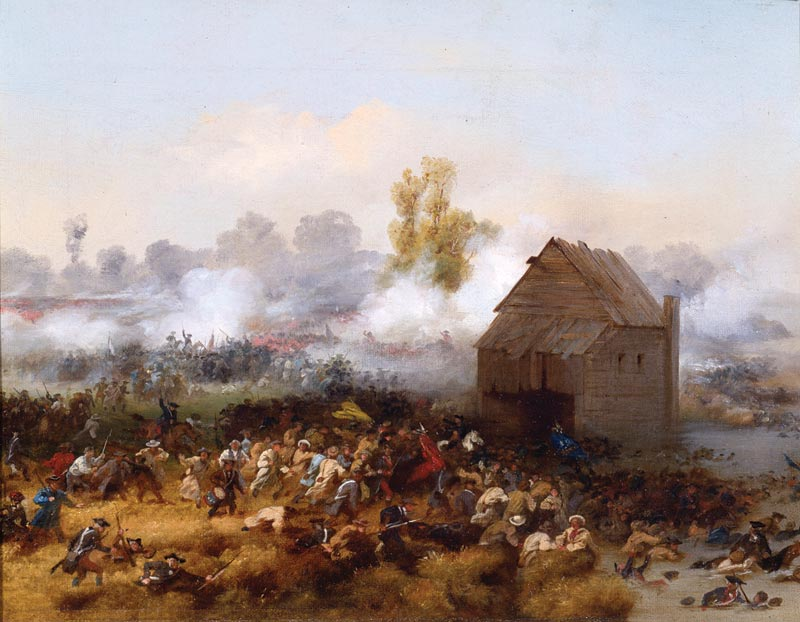 battle of long island painting