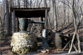 This hiking trail in Maryland leads to Blue Blazes Whiskey Still