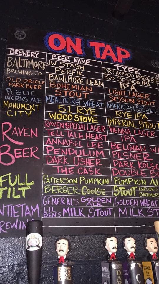 Peabody Heights Brewery beer menu