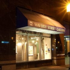 Outside Waverly Street Gallery in Bethesda, MD