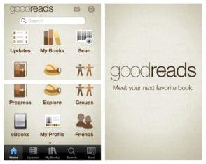 Goodreads iPhone mobile app screenshot