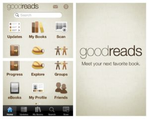 Goodreads iPhone mobile app screenshot