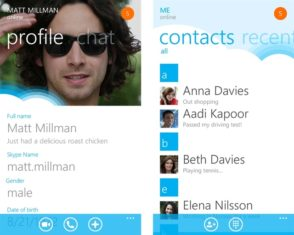 Skype mobile screenshot