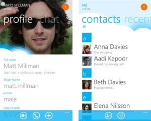 Skype mobile screenshot
