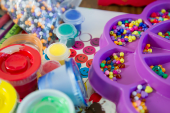 beads paints stickers