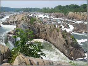 One of three overlooks of the Great Falls of the Potomac.