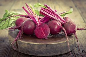 red beets on table