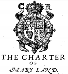1632 maryland charter seal