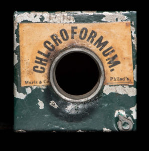 tin of chloroform from civil war era