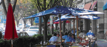 bethesda row restaurants outside eating