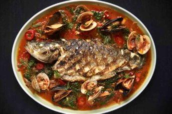whole fish plate at kapnos kouzina in bethesda md