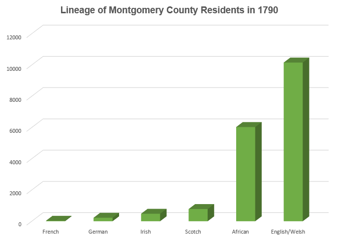 montgomery county demographics 1790