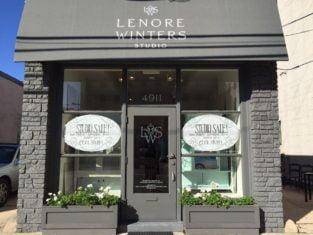 Outside Lenore Winters studio in Bethesda, MD